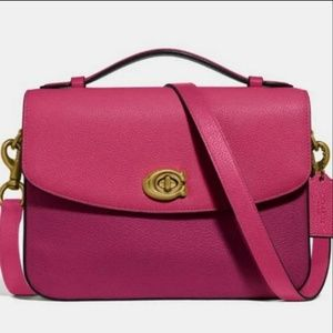 COACH Cassie crossbody pebble leather cherry  pink